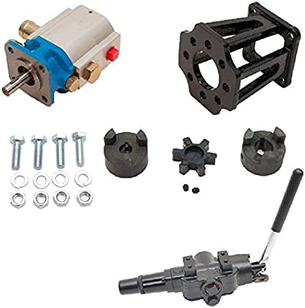 22 GPM 2-Stage Hydraulic Log Splitter Pump Mount Coupler /& A7 Detent Valve Kit ToolTuff Log Splitter Build Kit for 1 Engine Crankshaft