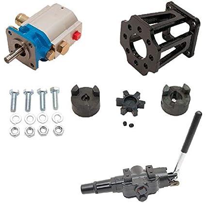 ToolTuff Log Splitter Build Kit: 11 GPM Pump, Mount, A7 Auto Return Valve,  Bolts, Coupler (for 3/4