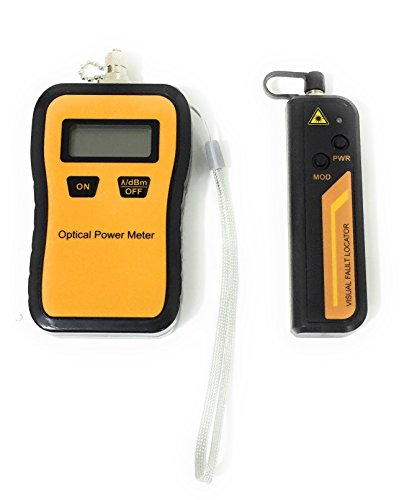 Mini Optical Fiber Power Meter with 10mW Visual Fault Locator, comes with Protective case and ENGLISH - Locator Domain