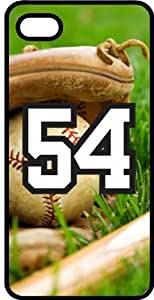 iphone covers Baseball Sports Fan Player Number 54 Smoke Rubber Decorative Iphone 6 plus Case