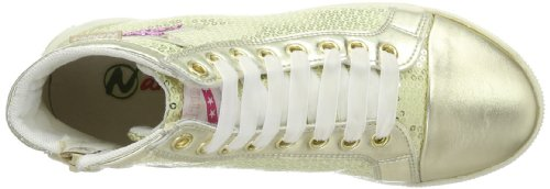 Naturino 2487 001250088103 Mädchen Sneaker Gold (Oro 9121)