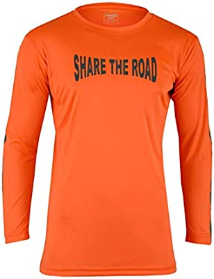 and Cycling Hugger Glove Company Mens High Visibility Dri Fit Polyester Shirt for Motorcycle Riding Walking//Running