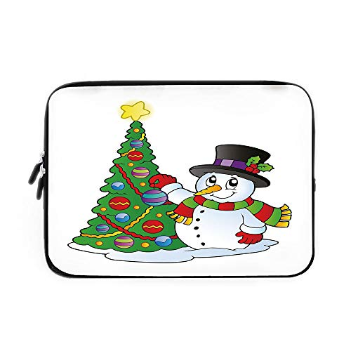 Best Nava Christmas Tree Stands - Snowman Laptop Sleeve Bag,Neoprene Sleeve Case/Lovely