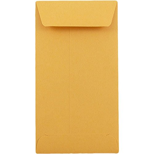 # 6 Coin Envelopes 3 3/8 x 6 inches Brown Kraft 100 Envelopes per Box