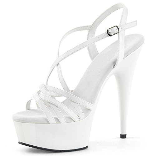 Performance Frauen Plattform UK4 Schuhe Farbe offene Sandalen EU36 Schuhe Ferse wasserdichte High Größe CN36 Rot Party Nachtclub ZHIRONG Spitze Weiß dünne 15CM Heels Rom Schuhe O5wCq