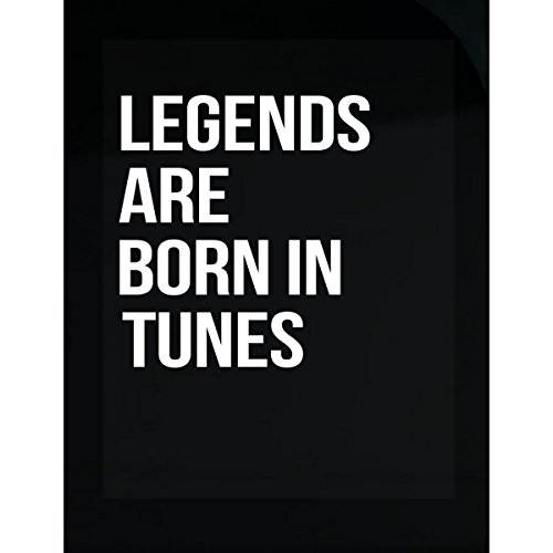 Inked Creatively Legends are Born in Tunes City. Funny Gift - Sticker