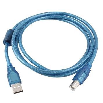 eDealMax 2.0 Tipo A Macho a B Macho Cable de datos de la impresora de alta