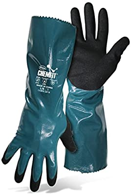 Boss ChemFit 1UH7013 Chemical Resistant and liquid proof work gloves, Sizes M-XXL