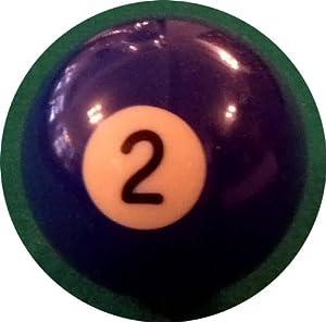 Billard-Einzelkugel 57,2 mm - Nr. 2