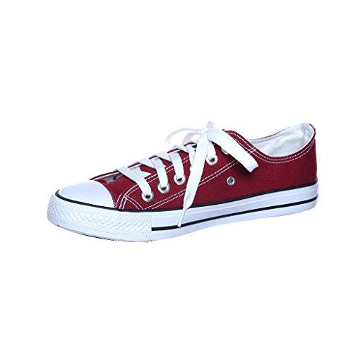Ny Stil!! Womens Classic Canvas Skridsko Sneaker Säljare Wined