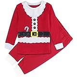 Mombebe Boys Christmas Pajamas Set Kids Santa Claus Costume (Santa Claus, 5T)