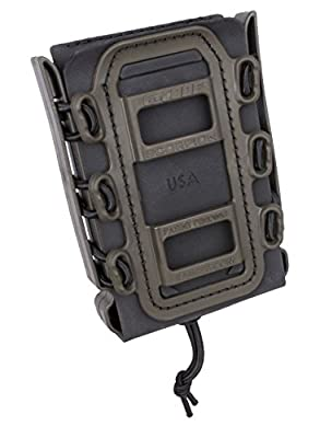 Rifle Soft Shell Scorpion Mag Carrier (BLACK and OD GREEN) with Paddle Attachment 100% MADE IN USA