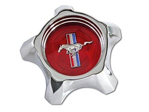 Mustang Wheel Cap Styled Steel Each 1967 Red