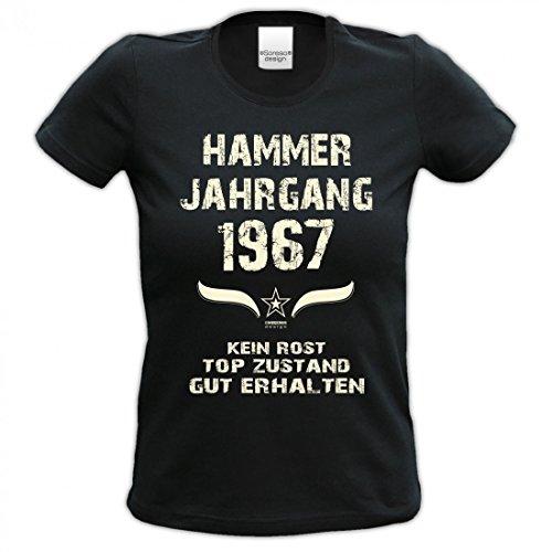 Lustiges Damen T-Shirt zum Geburtstag - Hammer Jahrgang 1967 - witziges  bedrucktes Lady Hemd