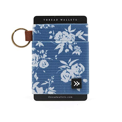 Thread Wallets - Slim Minimalist Wallet - Front Pocket Credit Card Holder for Women (One Size, Lush)