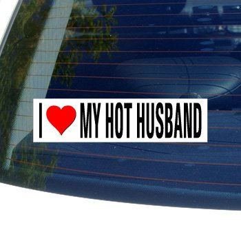 i love my husband bumper sticker - 5