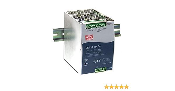 Hutschienen Netzteil 480W 48V 10A ; MeanWell SDR-480-48 ; DIN-Rail Trafo