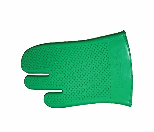 e | Horse Riding Equestrian Grooming Rubber Glove | Color - Green ()