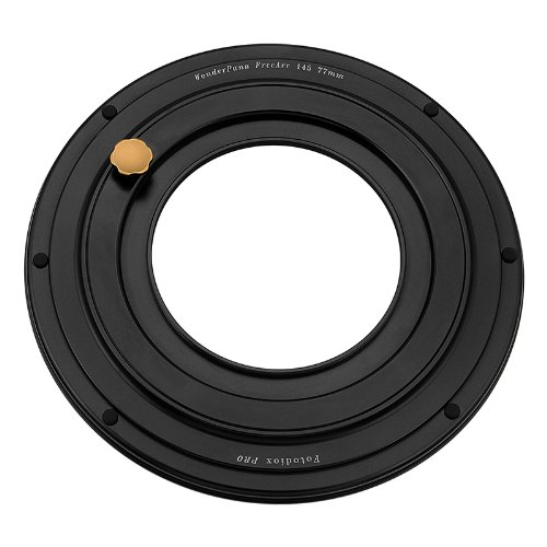UPC 847372025626, WonderPana FreeArc 77mm-145mm Step-Up Ring from Fotodiox Pro, Anodized Black Metal Aluminum Step Up Ring for 77mm Lens Threads to 145mm WonderPana145 Round Filters