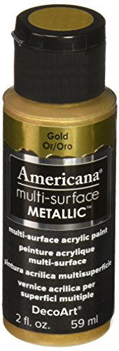 DecoArt Americana Multi-Surface Metallic Paint, 2-Ounce, Gold (DA553-30)