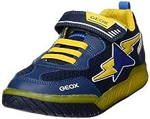 Geox J INEK Boy B, Zapatillas para Niños, Azul (Navy/Yellow C0657), 36 EU