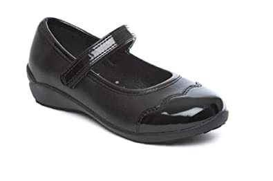 Chatterbox Girls Mary Jane T Bar Black School Shoes Size 4 5 6 7 8 9 ... c0cd4f735
