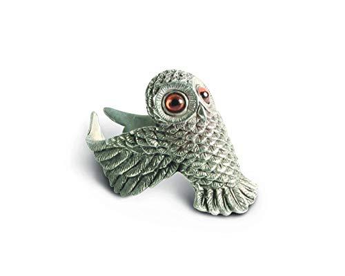Vagabond House Pewter Metal Owl Harvest Napkin Ring 2