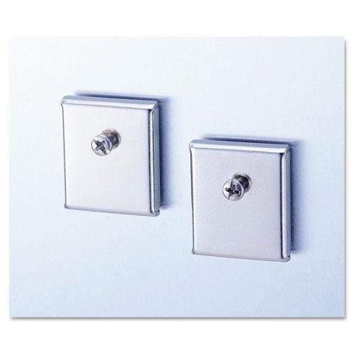 Universal Cubicle Accessory Mounting Magnets, Silver, Set of 2 (UNV08172) ()