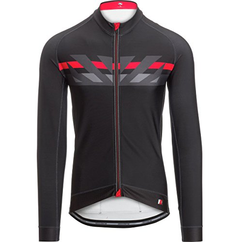 Giordana FR-C Raggi Jersey - Long-Sleeve - Men's Black/Red/Grey, M