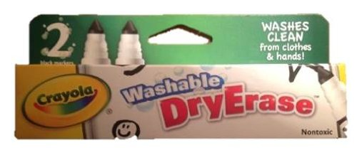Crayola Washable Dryerase Markers Nontoxic