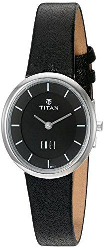 Titan Women's 2517SL02 Edge Analog Display Quartz Black Watch ()
