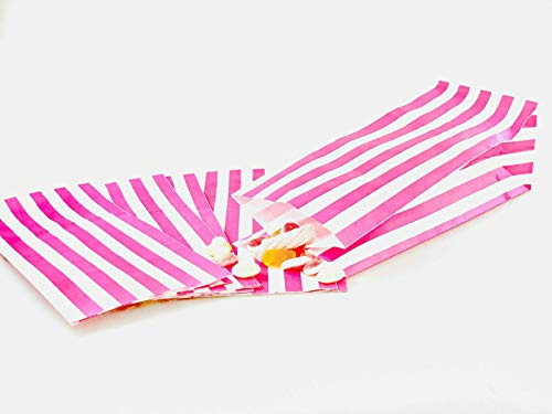 St@llion Pink 7″x9″ Candy Stripe Paper Bags Sweet Buffet Cart Bags for Gift Item (1000 Pcs)