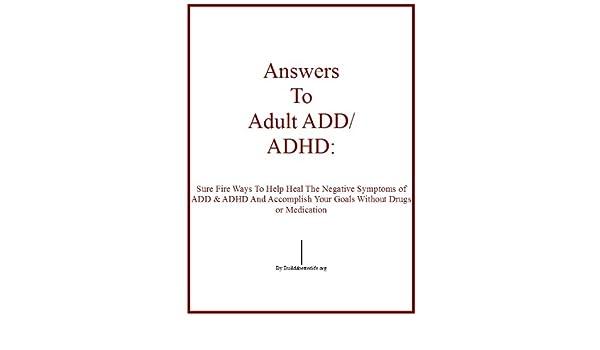 Adult add adhd symptoms
