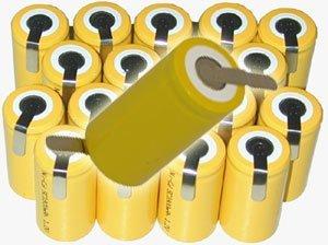 - (20) Sub-C 2000mAh NiCd Batteries by Powertron