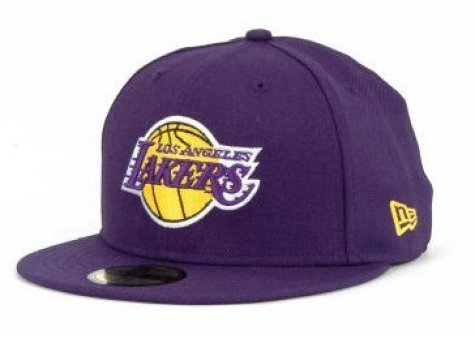 - New Era Men's 59fifty Basketball Fitted Hat Cap Los Angeles Lakers Purple (7 1/2)