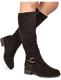 Women's Fashion Comfy Suede Elastic Block Heel - Sexy...