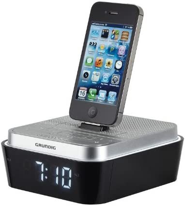 Grundig Sonoclock 930 IP - Reloj Despertador, Negro/Plata