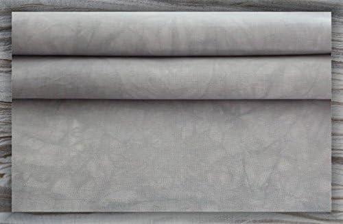 DMC//Charles Craft - 19x35 Misty Grey Hand-dyed 14 Count Aida Cloth