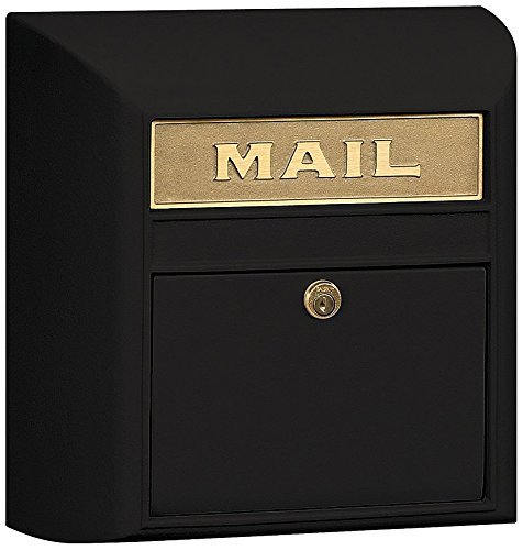 Plain Door Lock - Salsbury Industries 4150P-BLK Plain Door Modern Mailbox, Black
