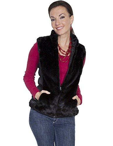 Scully Women's Honey Creek Reversible Faux Fur Vest Black (Reversible Faux Fur Vest)