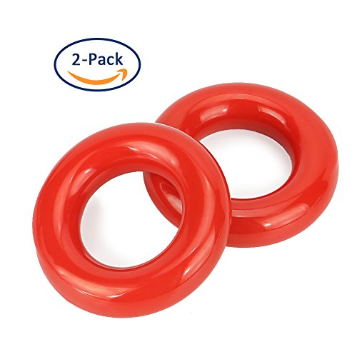 Red Donut - Bondpaw Golf Weighted Practice Swing Ring, Golf Club Warm Up Swing Red Donut Weight Ring Diver for Practice & Training (2 PCS)