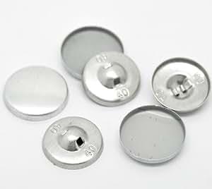 Juego de 10 botones de aluminio para forrar color - Botones para forrar ...