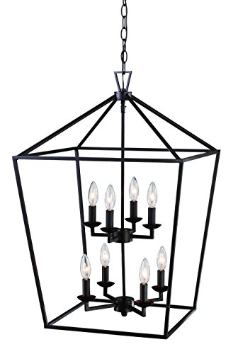 Trans Globe Lighting 10268 ROB Lacey Indoor Rubbed Oil Bronze Colonial Pendant, 19