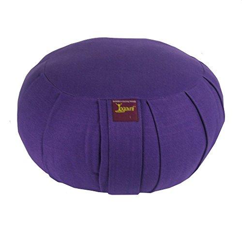Round Zafu Cushion Filled with Buckwheat Hulls (Purple)