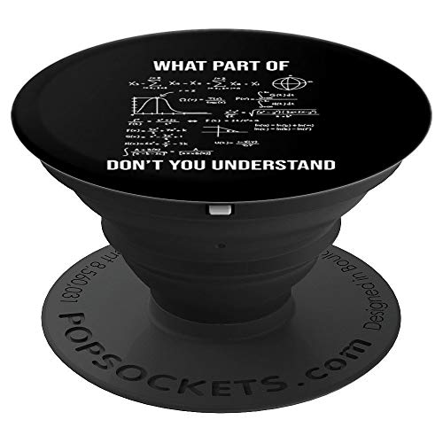 What Part Of Funny Civil Engineer Mathematician Math Gift - PopSockets Grip and Stand for Phones and Tablets