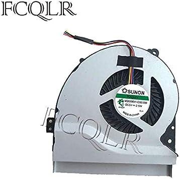 FCQLR Ordenador portátil Ventilador para ASUS k550j A550JK A550 fx50j FX50JK W50J FX50J FX50JX fx50 F550JK A550J jk4200 enfriamiento Ventilador: Amazon.es: Electrónica