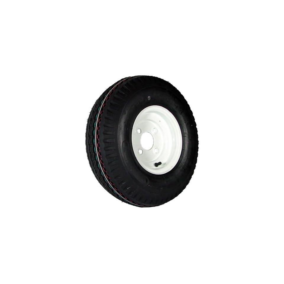 4 hole 8 x 3.75 White Trailer Wheel & Tire (910 lb. capacity)
