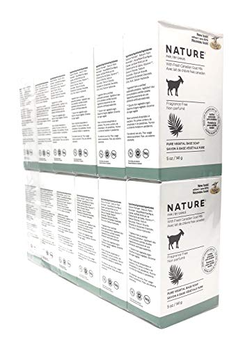 Nature By Canus Vegetable Bar Soap Skin Care Goat's Milk Soaps Fragrance Free - Bar Soaps 5 Oz. (Pack of 12)