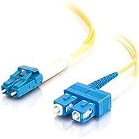 C2G 2m LC/SC Duplex 9/125 Single-Mode Fiber Patch Cable - Yellow / 26260 /
