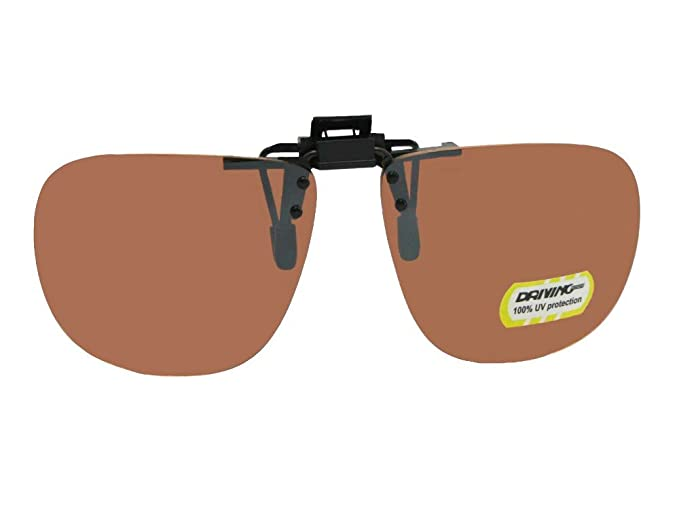 279e389bda Amber Square Non Polarized Flip Up Sunglasses With Sunglass Rage Pouch (Med  63mm Wide x